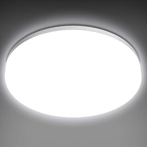 NIXIUKOL Plafón LED Techo 18W 1800LM, Lámpara Techo para B