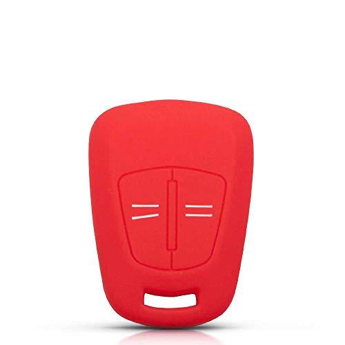SXHNNYJ Funda con Mando a Distancia de Silicona con 2 Botones, para Vauxhall Opel Corsa D Astra H Meriva Vectra Zafira Signum Agila