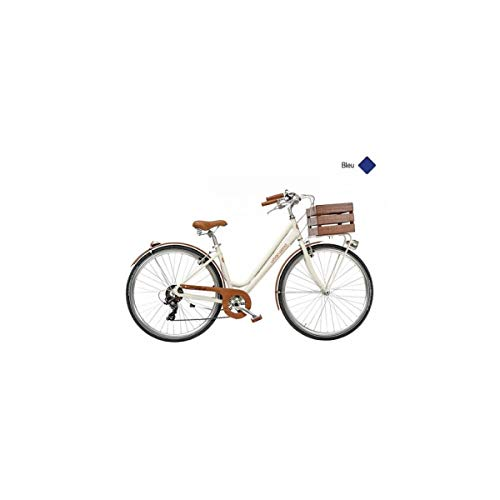 Casadini - Bicicleta urbana WOOD 28 para mujer, 7 V, aluminio, color azul H44