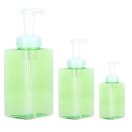 Botella de viaje, botella dispensadora de espuma de plástico fácil de limpiar para viajes para limpieza de cosméticos