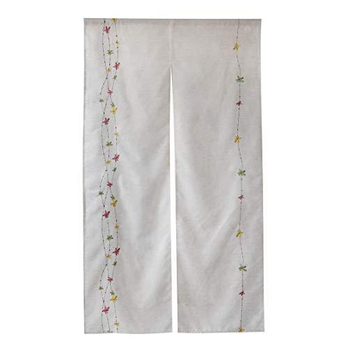 WEMAY麻綿のれん (麻花刺繍, 幅85�px200�p丈)