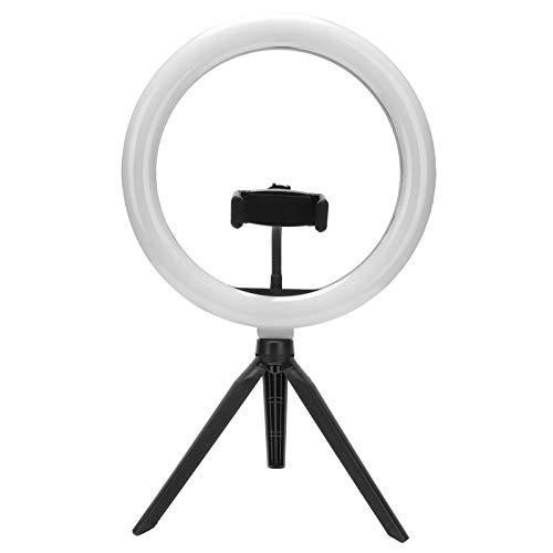 Anillo de luz LED con trípode y soporte para teléfono para maquillaje, selfies, fotografía, transmisión en vivo, con 3 modos de luz y 11 niveles de brillo