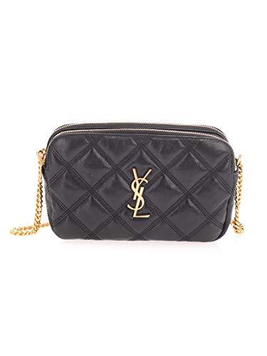 Saint Laurent Luxury Fashion Damen 6089411D3091000 Schwarz Leder Schultertasche | Frühling Sommer 20