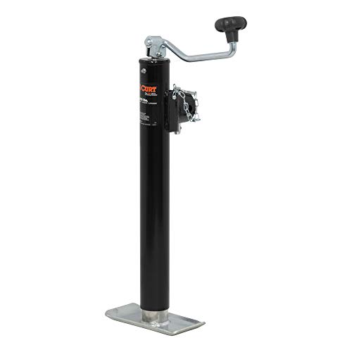 CURT 28356 Weld-On Pipe-Mount Swivel Trailer Jack, 5,000 lbs. 15 Inches Vertical Travel