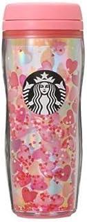 バレンタイン2021ボトルホログラムハート355ml スターバックス ピンク ラメ スタバ