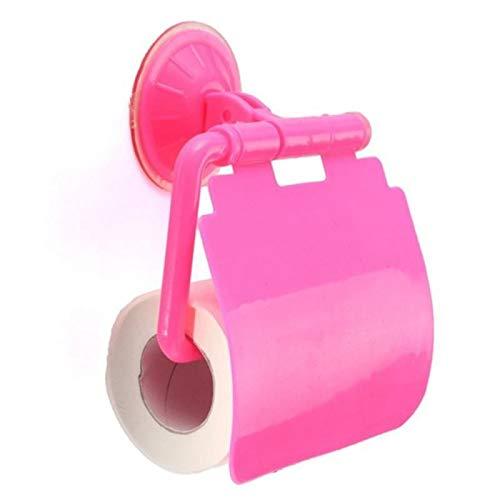 YELLAYBY Rack de Pared Montado en la Pared baño lechón Titular de Papel higiénico de plástico con artículos de Aseo Bastidor Placa de Cocina Toalla Caliente (Color : Pink)