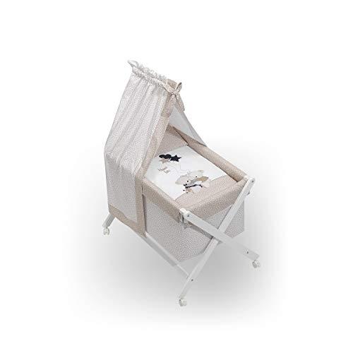Minicuna Dosel Volamos Baby Beige con Textil