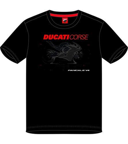 Ducati T-Shirt, schwarz, für Herren, Photographic, offizielles Produkt 2019, Größe XL