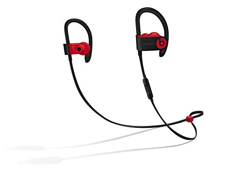 Powerbeats3 Wireless Earphones - Apple W1 Headphone Chip, Class 1 Bluetooth, 12 Hours Of Listening Time, Sweat Resistant Earbuds - Defiant Black-Red