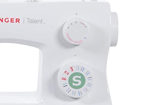 Singer Talent 3321 Máquina de Coser, Blanco, 45,7 x 22,2 x 35,6