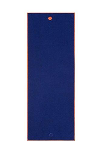 Manduka Yogitoes–Toalla Protectora de Esterilla de Yoga, sólido, Unisex, Chakra Blue, 68 Inches