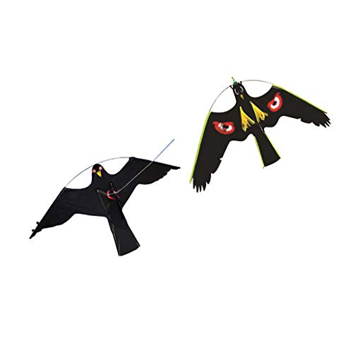 FLAMEER 2X Hawk Kite Bird Scarer Schützen Farmers Crops Toy Windsack Scarecrow # 2# 3