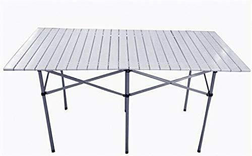BJYX Aluminium Campingtisch Roll Klapptisch Falttisch Gartentisch klappbar 70cm 140cm (Size : 140x70x70 cm)