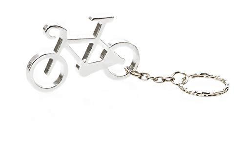 Praktischer Schlüsselanhänger Flaschenöffner Gadget Fahrrad Silber-Metallic mit Stil Fahrradliebe Zeigen!