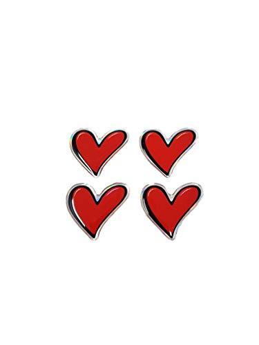 3D-stickers, kleine hartjes, 25 mm, 4 stuks