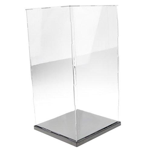non-brand Vítrina de Acrílica Caja de Exposición Trasparente Anti-Polvo para Colecciones Figuras Estatuas - 21x21x41cm