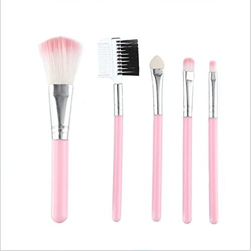 SXPSYWY Cepillo de maquillaje portátil, conjunto, principiantes, principiantes, herramienta de belleza, conjunto-Rosa