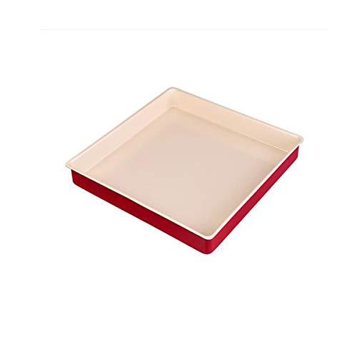 Guyuexuan Backblech, Backwerkzeuge, quadratisches Backblech, Kuchenrolle, Biskuit-Hähnchenflügel, Mehrzweck-Backblech, Antihaft-Backform, Backofen-Backblech, rot