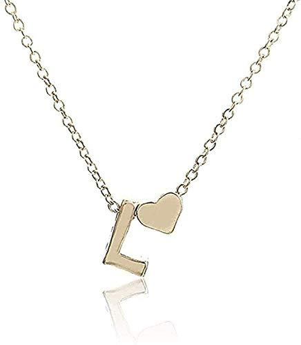 YOUZYHG co.,ltd Collar Collar Personalidad Inicial Letra Nombre Collar Colgante Dorado Regalo de la joyería