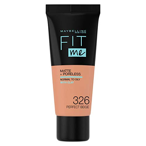 Maybelline New York Fit Me Matte & Poreless Foundation 326 Perfect Beige, 30 ml