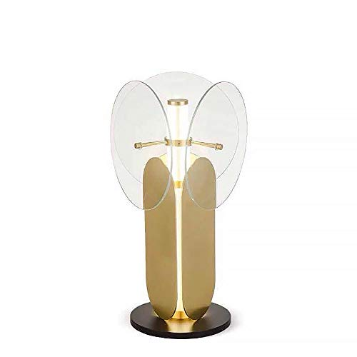 Table lamps Lamp Post-modern Creative Living Room Glass Table Lamp Study Bedroom Bedside Table Lamp Art 33CM * 33CM * 57CM (Color : Transparent)