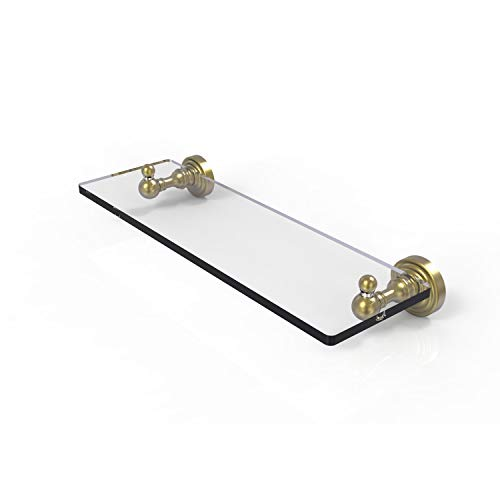 Allied Brass WP-1/16 Waverly Place Collection 16 Inch Vanity Beveled Edges Glass Shelf, Satin Brass