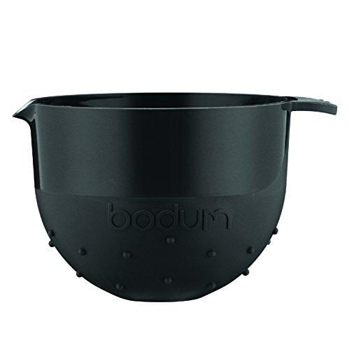 Bodum Bistro Rührschüssel, Servierschüssel, Teigschüssel, Kunststoff, Schwarz, 1.4 L, 11562-01B