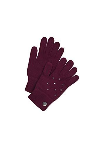 s.Oliver Mädchen Handschuhe mit Schmucksteinchen purple 2