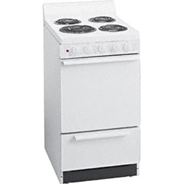 EAK100OP 20   Freestanding Electric Range with 2.4 Cu. Ft. Capacity One 8   Coil Element Three 6   Elements 4   Porcelain Backguard Storage Drawer Surface Signal Light and Lift Top with Rod in White