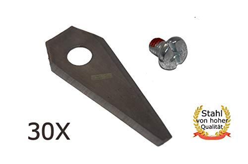 30X 4,9CM Messer für BOSCH Indego 350 400 800 1000 1100 1200 Connect - HQ Stahl