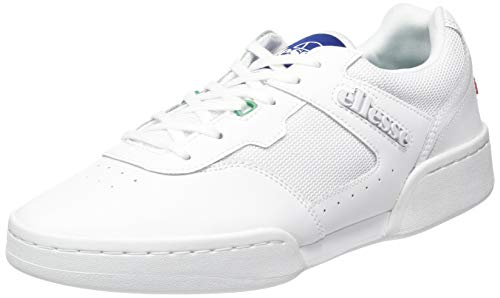 ellesse Herren Piacentino 2.0 Sneaker, Mehrfarbig (White/Blue/Green Wht/Blu/Grn), 47 EU