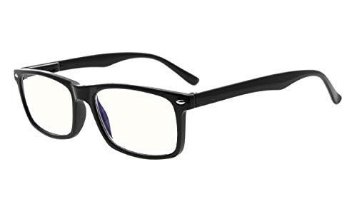 Eyekepper Leser UV Schutz,Anti Blendung Brille,Anti Blau Strahlen,Frühling Scharniere Computer Lesebrille schwarz +3.5