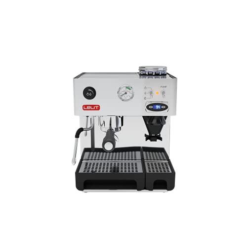 Lelit Anita PL042TEMD semi-professionelle Kaffeemaschine mit integrierter Kaffeemühle, ideal für Espresso-Bezug, Cappuccino und Kaffee-Pads - Edelstahl-Gehäuse – Doppeltes PID-Temperaturregler