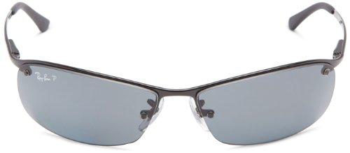 Fashion Shopping Ray-Ban Men's Rb3183 Metal Rectangular Sunglasses
