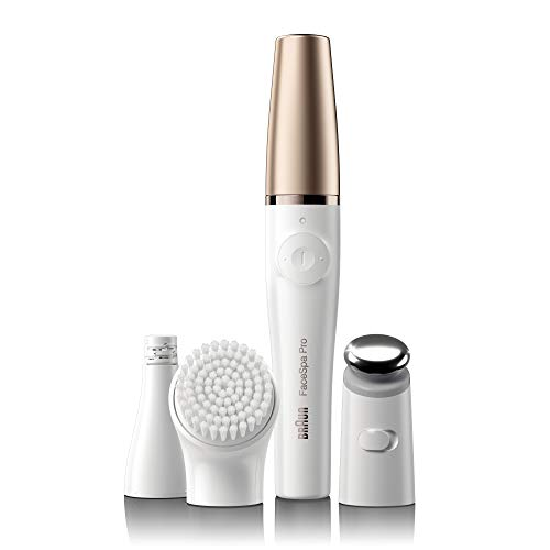 Braun Face Epilator Facespa Pro 911, Facial Hair Removal for Women, 3-in-1 Epilating, Cleansing Brush and Skin Toning with 3 extras