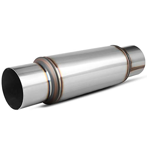4 Inch Inlet/Outlet Muffler, AUTOSAVER88 Universal Stainless Steel High Performance Resonator for Cars, 18 Inch Overall Length