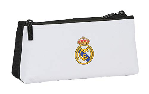 Zaino Safta per la scuola dei bambini, con cerniera, semplice del Real Madrid, 220 x 80 x 100 mm