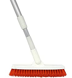 Grout Brush with Long Handle Shower and Tub Tile Scrub Brush
