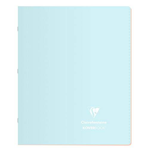 Clairefontaine 951481C - Un cahier piqué Koverbook Blush 96 pages 17x22 cm grands carreaux 90g, couverture polypro (plastique), couleur aléatoire