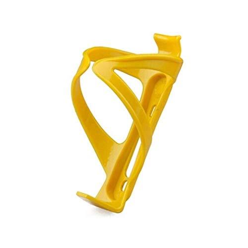 Portabidones de bicicleta de plástico ajustable, portabotellas de bicicleta, portabicicletas de bicicleta de montaña, jaulas de botella de MTB Accesorios de ciclismo (color: amarillo)