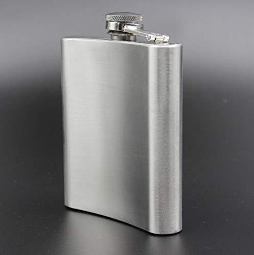 ラン厶ユキスキットル携帯フラゴン滑り止めヒップフラスコおしゃれウイスキー清酒ボトルテンレス鋼(8oz(約220ml)-B)