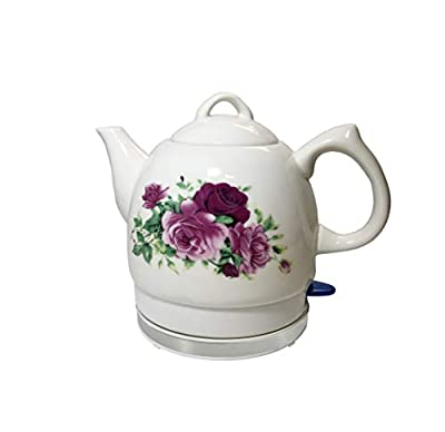 FixtureDisplays Teapot, Ceramic, w/electronic heat plate, 12026-NF