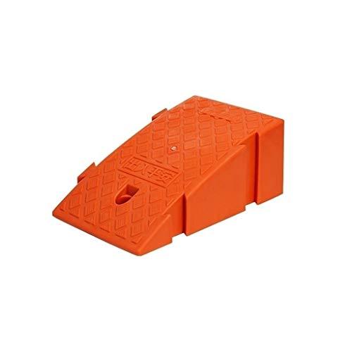 Rampen für Rollstühle, 15,7 cm/18,5 cm, farbige Kunststoff-Trittmatte für Außentreppen, Sicherheitsrampen, Hotel-, Mall-Schwellenrampen, praktisch (Farbe: Rot, Größe: 25 x 44 x 18,5 cm)
