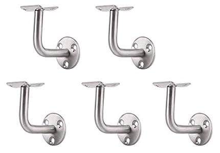 Musuntas 5x soportes para pasamanos de acero inoxidable, soporte de pared, barandilla , protección