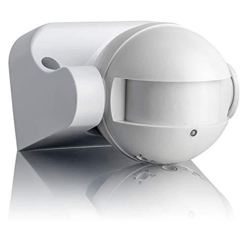 SEBSON Rilevatore di Movimento esterno IP54, Montaggio a Parete, LED adatto, programmabile, HF Sensore, orientabile, Portata 12m / 180°
