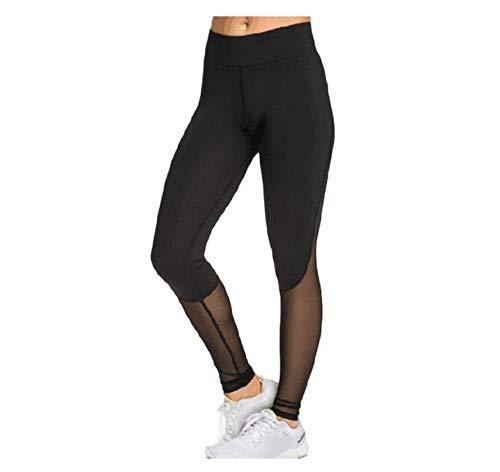 WUXEGHK Leggings Casuales Mujeres Pantalones De Fitness De Malla Negra Mujeres Leggins De Cintura Alta Empuje Hacia Arriba Leggings Punk Leggins Entrenamiento Sexy Leggings Deportivos Tamaño: M