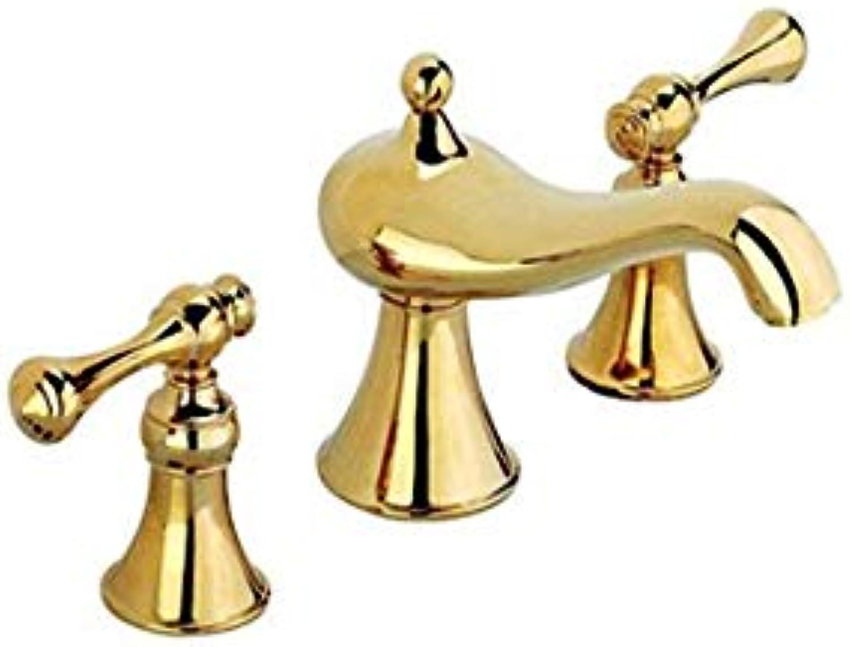 Retro Küche warmes und kaltes Wasser 360 Grad-Umdrehung klopft Goldenen Hahn-Becken-Hahn Retro Gold-heien und kalten Wasserhahn