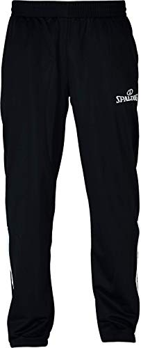 Spalding Team Warm UP Pants Pantalon Enfant, Schwarz/Weiß, 140 cm
