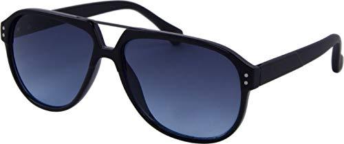 Gafas de sol unisex Panto Kat.3 negro/azul (AZ-8135)
