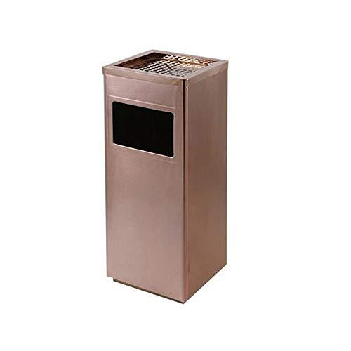 Cassonetti Bidone della spazzatura durevole grande bidone della spazzatura in oro rosa cestino dell'immondizia cestino dell'acciaio inossidabile contenitore for bagno camera da letto ufficio KTV con f
